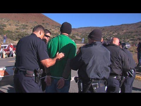 Mauna Kea TMT Blockade Arrests
