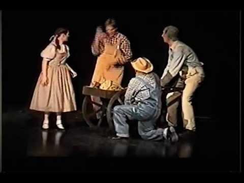 WIZARD OF OZ Melanie as Dorothy PART 1 Gregory Terlecki as Hunk Scarecrow