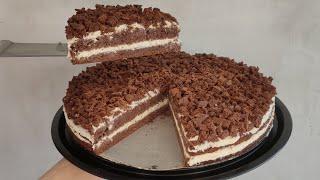 Дети ОБОЖАЮТ Торт МОЛОЧНЫЙ ЛОМТИК Шоколадный торт со сливочно творожным кремом