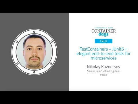 TestContainers + JUnit5 = elegant end-to-end tests for