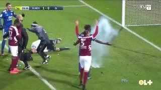 إلغاء مباراة في الدوري الفرنسي لإصابة حارس بالألعاب النارية