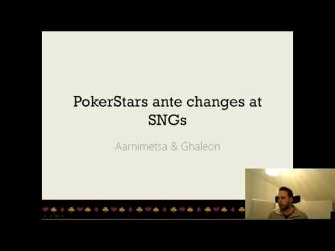 SNG Ante Changes at PokerStars - Theory and Hands with Aarnimetsa & Ghaleon Part One 16.3. 2015