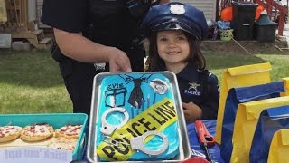 5-Year-Old Girl Who Loves Police Celebrates Birthday With Her Favorite Officer thumbnail