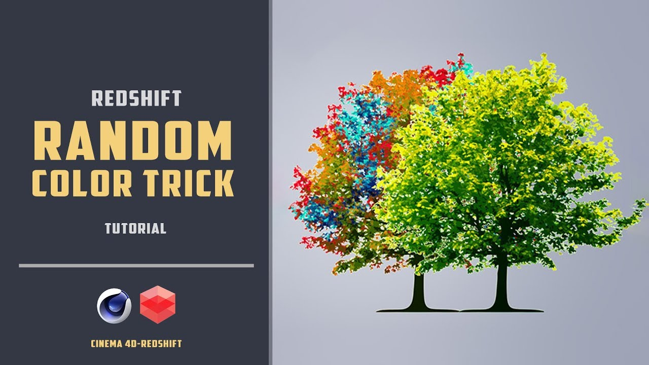 Random coloring polygon groups of an object [REDSHIFT][CINEMA 4D TUTORIAL]