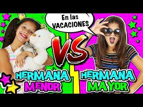 🌈 ¡¡HERMANA MAYOR VS HERMANA PEQUEÑA 🎀 en VACACIONES ¡¡EXPECTATIVA vs REALIDAD de tener HERMANOS!!