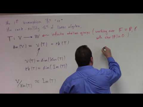 Abstract Algeba: L22, First Isomorphism Theorem and Linear Algebra, Boolean group , 10-24-16