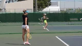 TORAYパンパシフィックオープンテニス2016 べリンダ・ベンチッチ ダニエラハンチュコバ 検索動画 28