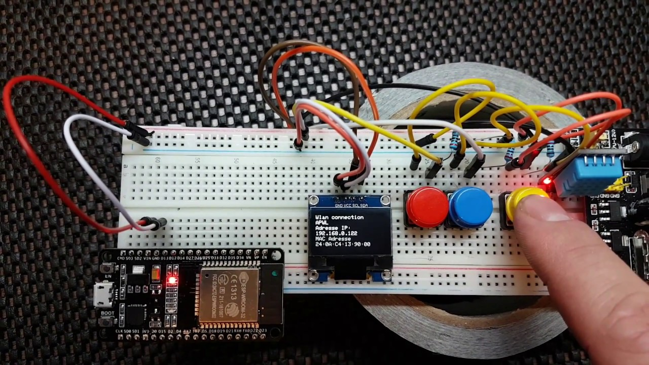 Arduino wifi thermostat on esp32 with MQTT