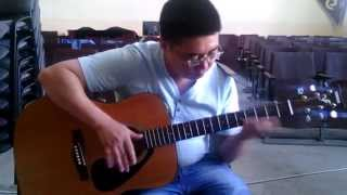 Простая веселая мелодия на гитаре