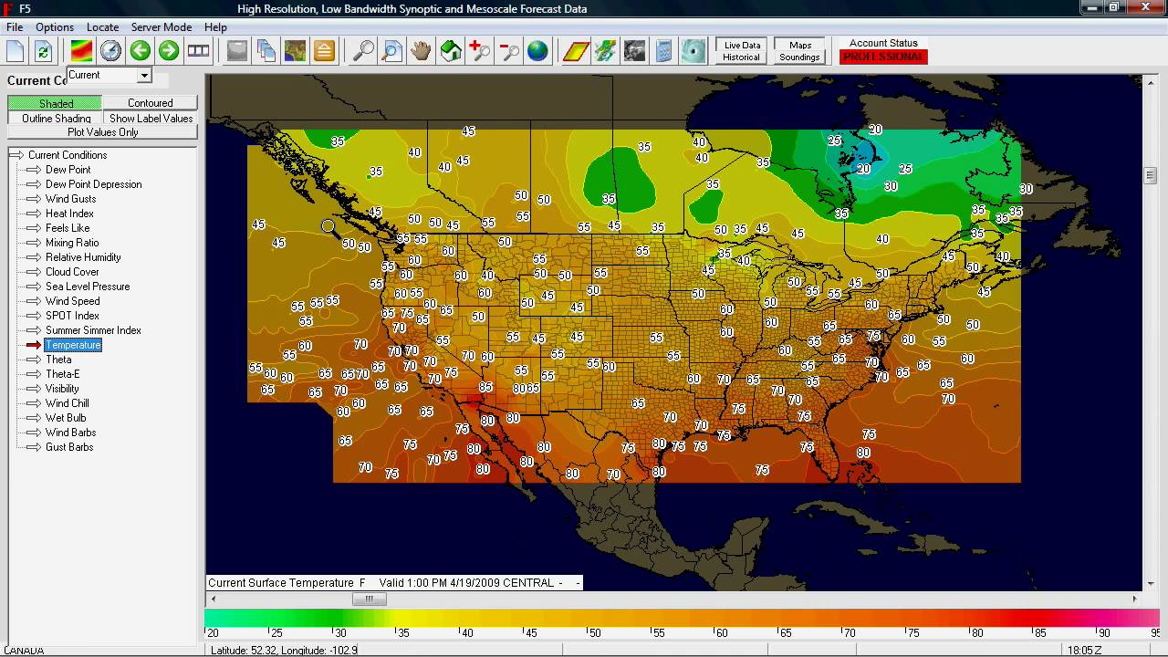 FData Weather Forecast Software Tutorial Your First Map YouTube - Map of united states weather forecast