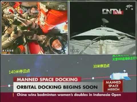 CCTV (english) Shenzhou 9 - Tiangong 1 Docking Coverage 18.6.12