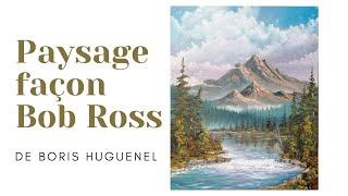 Comment peindre une montagne, un cour d'eau, et des sapins!