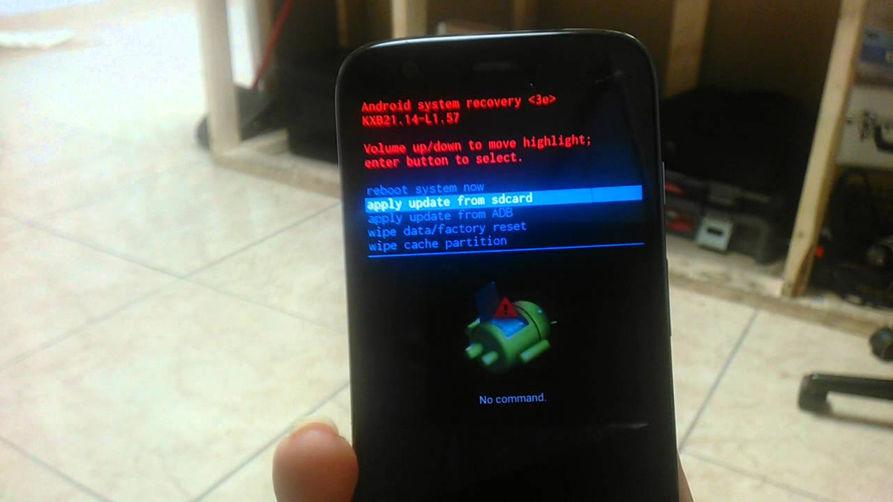 Moto G Hard Reset Quot No Command Quot Solution Youtube