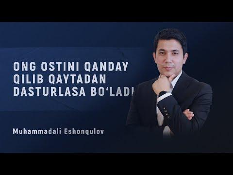 Ong ostini qanday qilib  qaytadan dasturlasa bo'ladi? | Muhammadali Eshonqulov