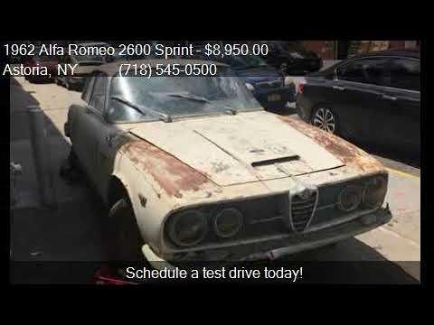 1962 Alfa Romeo 2600 Sprint For Sale In Astoria Ny 11103 A Youtube