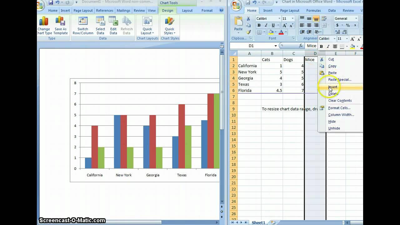 Insert Chart into WORD document YouTube – How to Make a Chart in Word