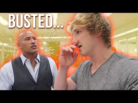 Thumbnail: I SNUCK ON THE ROCK'S SET! *he caught me* (Feat. Dwayne Johnson)