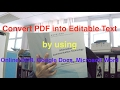 PDF to Editable Text by Using Online OCR, Google Docs and Microsoft Word