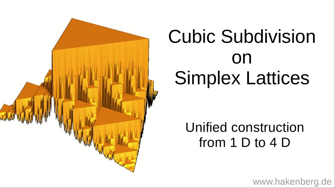 Unified Construction of Cubic Subdivision on Simplex Lattices up to 4D