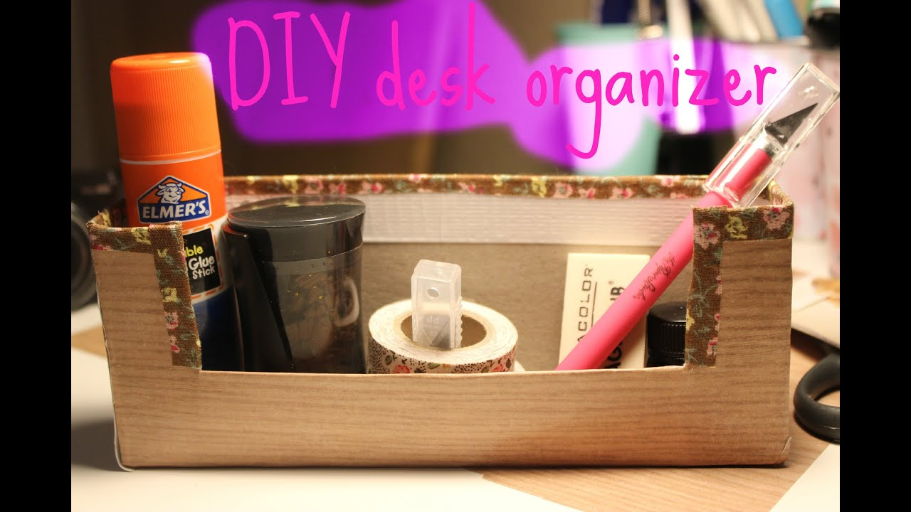 Diy desk organizer made out of cereal box youtube for What to make out of cereal boxes