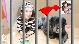 24 Hours In Box Fort Jail With Loki! Creepy Doll Watching Me! 24 Hours With No LOL Dolls