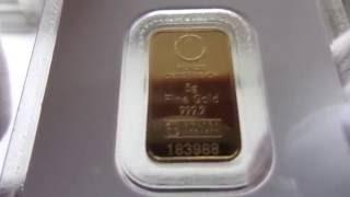 Золотой слиток MUNZE OSTERREICH  5 грамм.