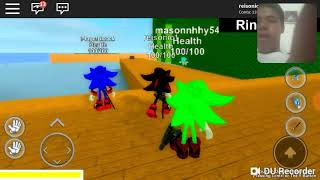 Playing ROBLOX: And the new map of Sonic