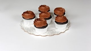 Chocolate Cupcakes With Whipped Chocolate Ganache Frosting