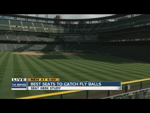 Best seats to catch a fly ball at Coors Field