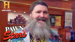 Pawn Stars: FAMOUS WRESTLER Mick Foley Verifies RARE Memorabilia (Season 18)   History
