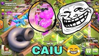 Caindo na nova armadilha tornado arapuca 😂😂 Clash Of Clans