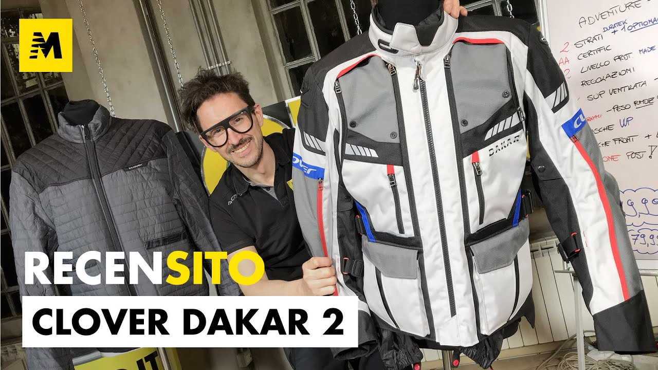 Clover Dakar2. Recensione giacca due strati adventure. - YouTube