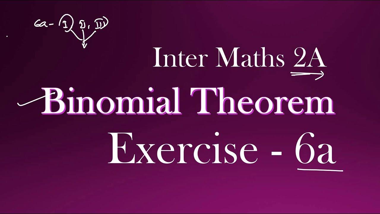 2(A) - 6(a) - Binomial Theorem (Sec - I)