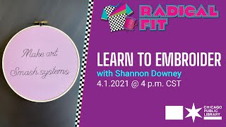 Learn to Embroider!