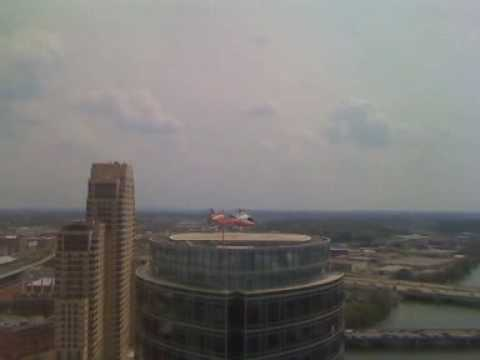 Helicopter Take-Off - JW Marriot Grand Rapids