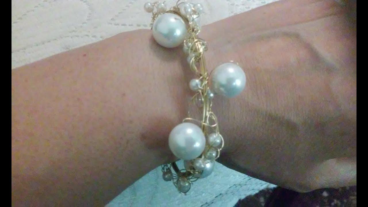 Como hacer bisuteria fina pulseras de perlas cursos de - Como hacer conchas finas ...