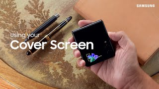 Download Using the cover screen on your Galaxy Z Flip3   Samsung US