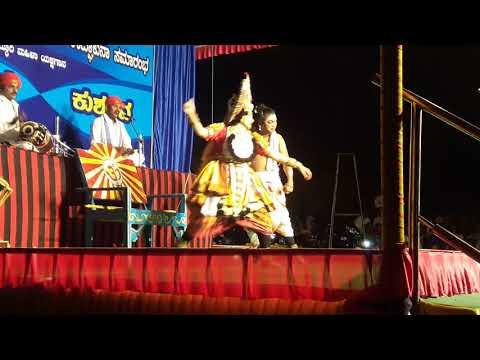 Yakshagana Raghavendera Achar+Niharika Bhat as Lava at Mandarthi
