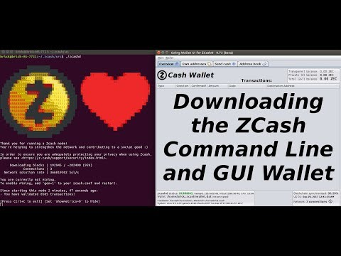 Downloading the Zcash Wallet (Command Line and GUI)