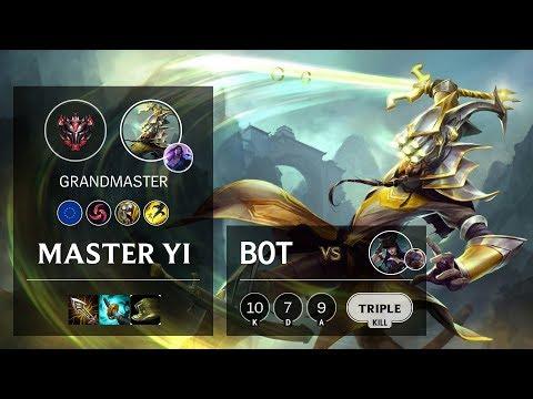 Master Yi Bot Vs Caitlyn - EUW Grandmaster Patch 10.5