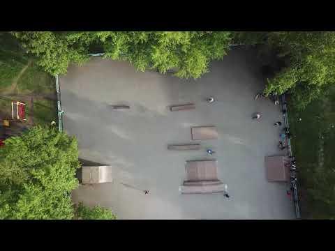 Город Серов с высоты, лето 2019