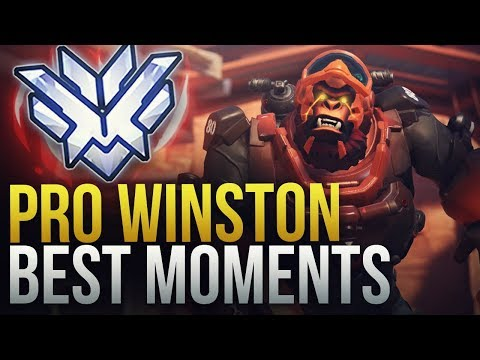 BEST PRO WINSTON MOMENTS - Overwatch Montage