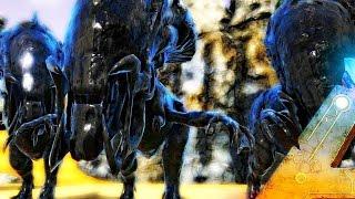 ARK Survival Evolved - 250 REX VS XENON / XENOMORPH REX, MYSTIC ACADEMY MOD ( Modded Gameplay )
