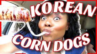 EATING KOREAN STREET FOOD MUKBANG