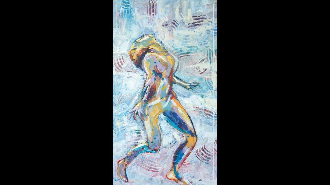 Painting: Bathing in energy