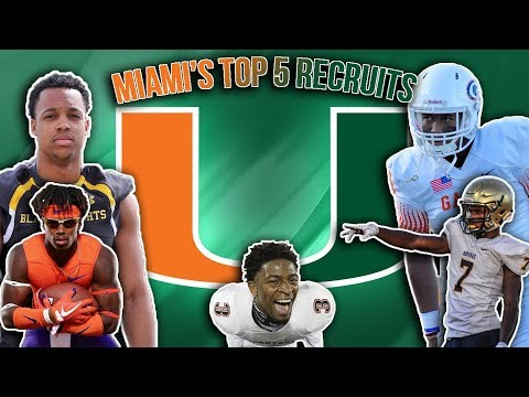 The U Is Back!!!- Miami Football Top 5 Recruits 2017-2018