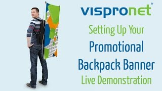 Walking Tradeshow Advertising - Promotional Backpack Banner