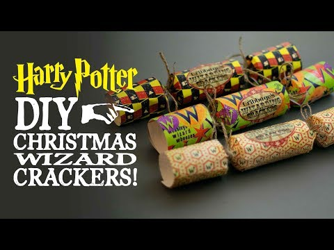 Christmas Wizard Crackers - Harry Potter DIY