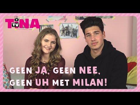 MILAN en LIEKE spelen GEEN JA, GEEN NEE en GEEN UH!  | TinaTV