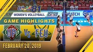 UAAP 81 WV: UP vs. FEU | Game Highlights | February 20, 2019